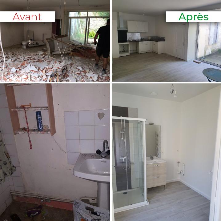 Exemple de travaux avant/après réalisés par la maison des artisans